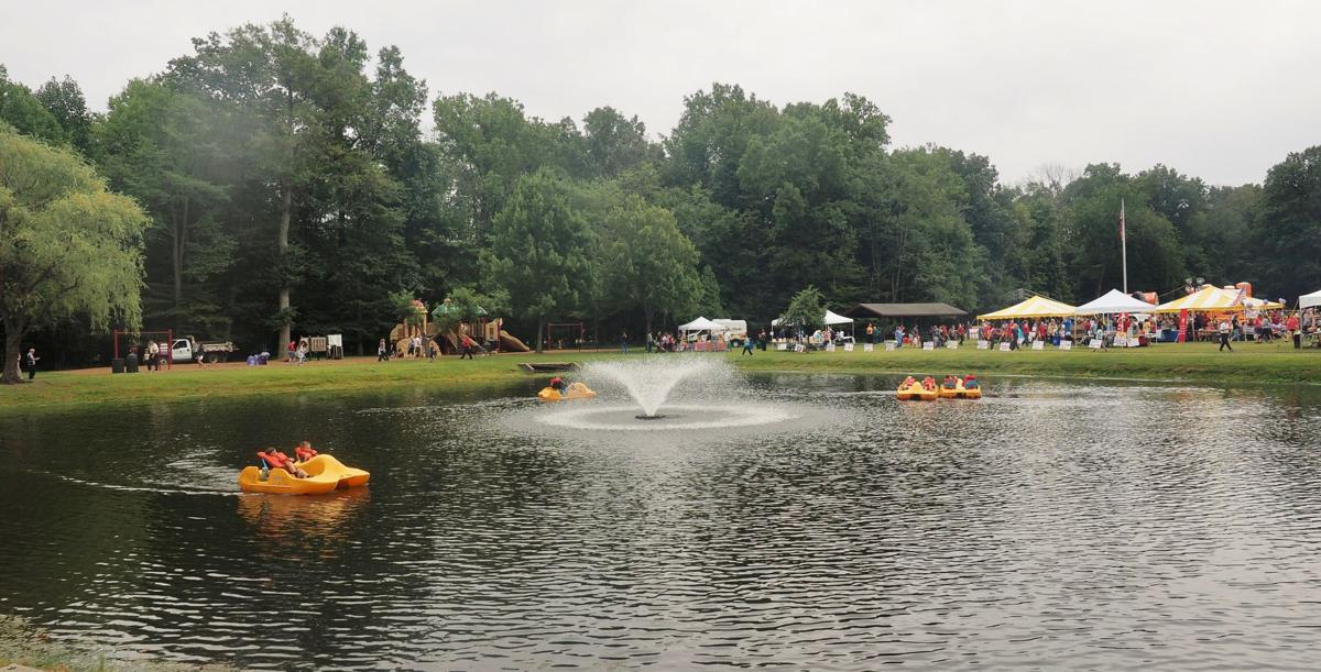 Paddle Boats on Malapardis Pond for Hanover Township Day